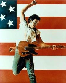 Bruce Springsteen / American Flag jump